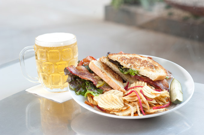 BLT with Marshall's Pavillion Pilsner